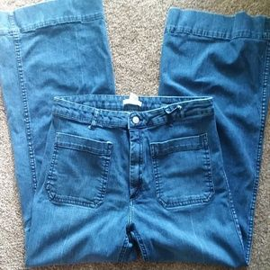 H&M ❤ 70s Styled High Waist Flare Jeans
